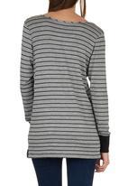 c(inch) - T-shirt with Cuffs Grey