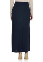 edit - Maxi Skirt with Side Slit Navy