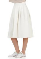 STYLE REPUBLIC - High-waisted Midi Skirt Milk