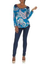 Maya Prass - Kari Top Mid Blue Mid Blue