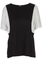 STYLE REPUBLIC - Inset T-shirt Black/White Black and White