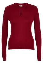 edit - Burgundy high neck t-shirt Dark Red