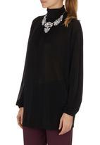 Fortune - Bell-sleeve Blouse Black