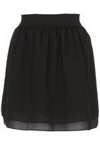c(inch) - Flare Mini Skirt Black