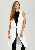 STYLE REPUBLIC - Sleeveless Soft Trench Milk