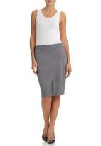 edit - Printed Pencil Skirt Black/White Black and White