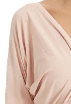 Gert-Johan Coetzee - Cowl-sleeve Wrap Top Pink Mid Pink