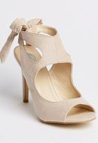 Footwork - Slingback Peep-toe Heels Neutral