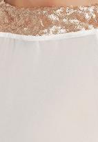 c(inch) - Sequins Blouse Milk