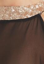 c(inch) - Sequins Blouse Black