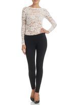 Paige Smith - Long-sleeve Lace Bodysuit Ivory
