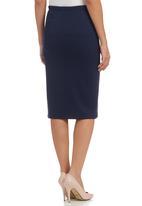 c(inch) - Plain Bodycon Skirt Navy