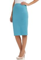 c(inch) - Plain bodycon skirt Pale Blue