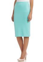 c(inch) - Plain bodycon skirt Light Green