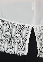 edit - Lace Shirt with Scallop Hem Milk