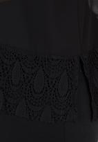 edit - Lace Shirt with Scallop Hem Black
