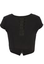 c(inch) - Blouse with Square Detail Black