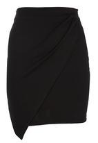 c(inch) - Envelope Skirt Black