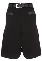 edit - A-line Midi Skirt Black