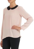 Shoez Group - Blouse with contrast collar Pale Pink