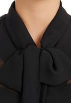 edit - Kitty-bow Blouse Black