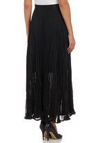 edit - Pleated Maxi Skirt Black