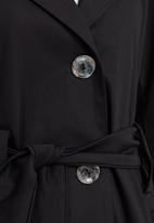 edit - Trench Coat Black