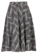 c(inch) - Flare Midi Skirt Black/White Black and White