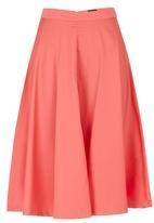 c(inch) - Flare Midi Skirt Coral