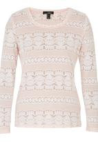 Suzanne Betro - Burnout T-shirt Pink Pale Pink