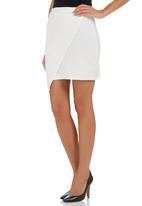 c(inch) - Envelope Skirt White