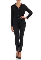 Suzanne Betro - Drawstring Shirt Black