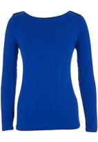 Suzanne Betro - Basic Boat-neck T-shirt Cobalt