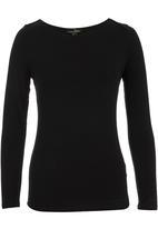 Suzanne Betro - Basic Boat-neck T-shirt Black