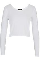 Suzanne Betro - Long-sleeve Crop White White
