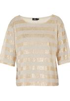 STYLE REPUBLIC - Glamour Box Top Gold Gold