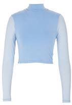 Shoez Group - Long sleeve mesh crop Pale Blue
