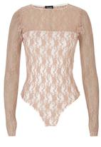 c(inch) - Lace bodysuit Pale Pink