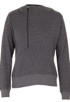 Lithe - Hoody with Zip Detail Dark Grey