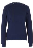 Lithe - Hoodie with Zip Detail Navy