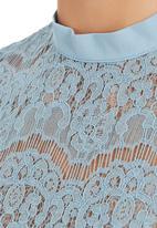 c(inch) - Lace blouse Pale Blue