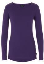 Lithe - Basic Long-sleeve T-shirt Dark Purple Dark Purple
