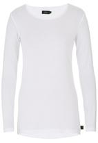 Lithe - Long-sleeve T-shirt with Ruching Detail White