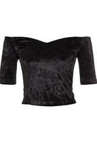 STYLE REPUBLIC - Sweetheart Off-the-shoulder Top Black