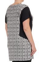 Next - Grid-print Tunic Black/White Black and White