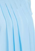 edit - Pleated Blouse Mid Blue  Mid Blue