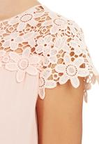 Suzanne Betro - Lace Trim Top Pale Pink