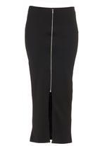 STYLE REPUBLIC - Zip-front Tube Skirt Black