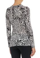 edit - Printed cross over top Black and White