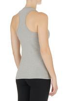 Lithe - Mesh-inset Vest Grey Pale Grey